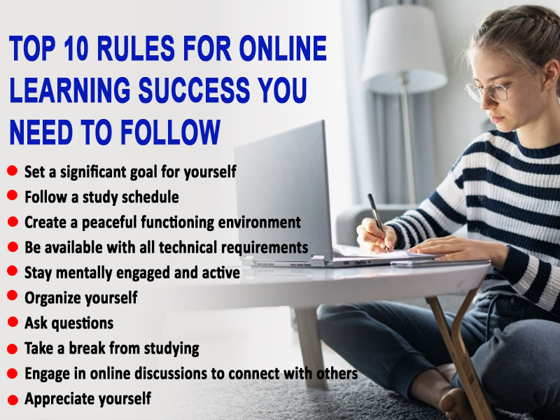 Top 10 rules for online learning success you need to follow